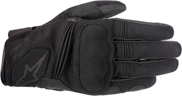 Alpinestars Mens Black Warden Leather Textile Motorcycle Riding Street Gloves