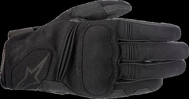 Mens Alpinestars Black Warden Leather Textile Motorcycle Riding Street Gloves