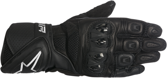 Alpinestars Mens Black Leather SP Air Motorcycle Riding Street Racing Gloves
