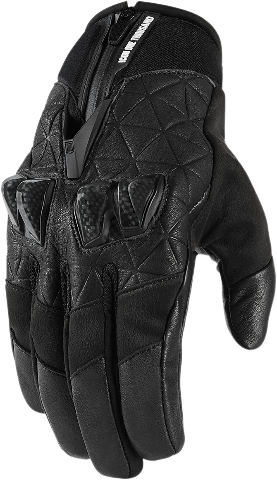 Icon Black Akromont Textile Mens Motorcycle Riding Street Racing Gloves CLOSEOUT