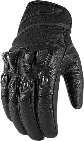 Icon Black Textile Konflict Motorcycle Riding Street Racing Gloves CLOSEOUT