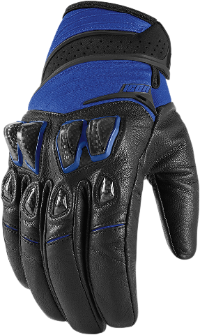 Icon Blue Textile Konflict Motorcycle Riding Street Racing Gloves CLOSEOUT