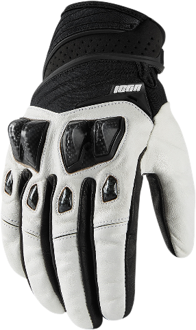 Icon White Textile Konflict Motorcycle Riding Street Racing Gloves CLOSEOUT