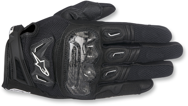 Alpinestars Mens Leather SMK-2 Black v2 Motorcycle Riding Street Racing Gloves