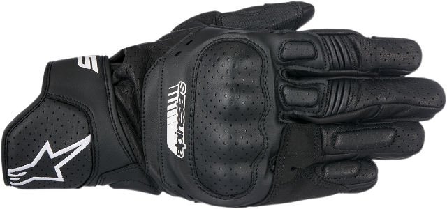 Alpinestars Mens Pair Black SP5 Leather Motorcycle Riding Street Racing Gloves