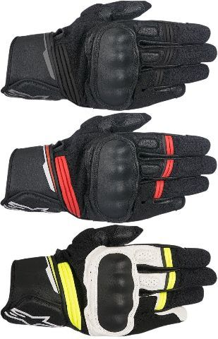 Alpinestars Mens Leather Booster Pair Motorcycle Riding Street Racing Gloves