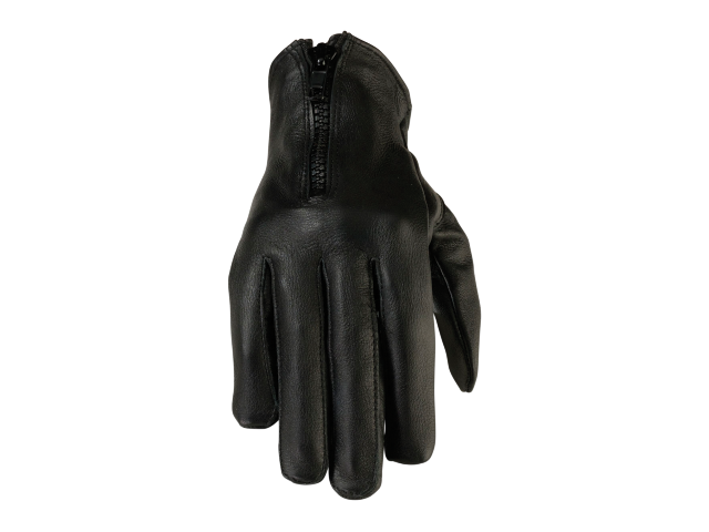 Z1R Womens 7MM black leather motorcycle biker street gloves