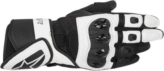 Alpinestars Women Stella SP Air Black White Leather Motorcycle Riding Gloves