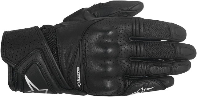 Alpinestars Womens Baika Black Leather Motorcycle Riding Street Racing Gloves