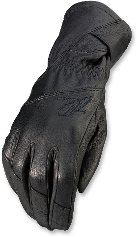 Z1R Womens Long Cuff Black Leather Recoil Motorcycle Riding Street Racing Gloves