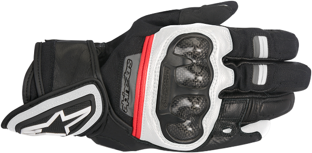 Alpinestars Mens Black White Red Rage Motorcycle Riding Street Racing Gloves