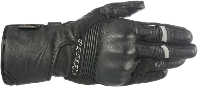 Alpinestars Mens Black Leather Patron Motorcycle Riding Street Racing Gloves