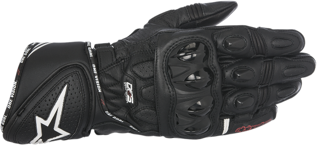 Alpinestars Mens Black Leather GP Plus R Motorcycle Riding Street Racing Gloves