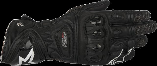 Mens Alpinestars Black Leather Supertech Motorcycle Riding Street Racing Gloves