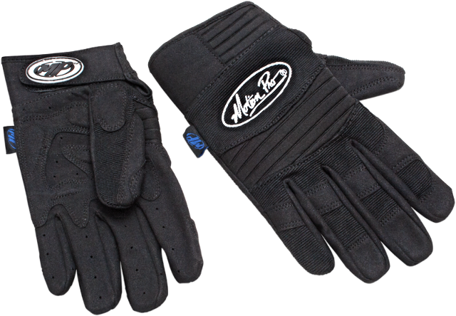 Motion Pro Pair Black Long Cuff Textile Motorcycle Riding Street Gloves Harley