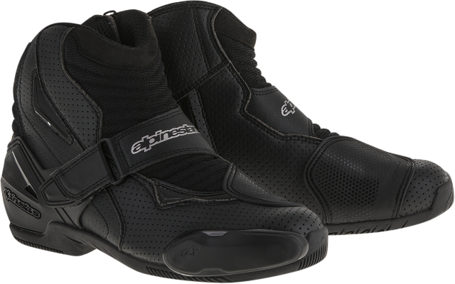 Mens Alpinestars Black Textile Pro Vented SMX-1R Motorcycle Street Racing Boots