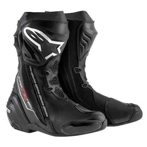 Mens Alpinestars Black Textile Supertech R Motorcycle Riding Street Racing Boots