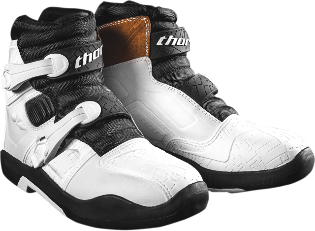 Mens Thor White Blitz LS Leather Motorcycle Riding Off Road Racing Boots