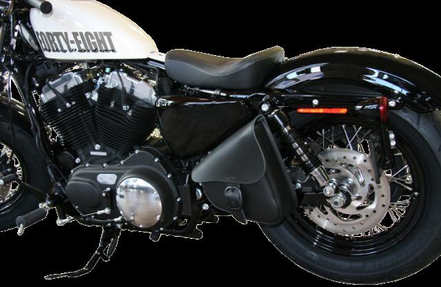 MOTORCYCLE Solo Bag Swingarm SIDE SaddleBag for Harley Sportster 2000 to 2015