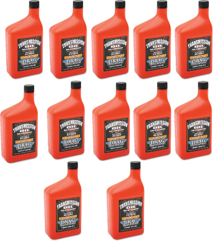 Drag Specialties 80w90 Big Twin Motorcycle 12 Pack Transmission Oil For Harley