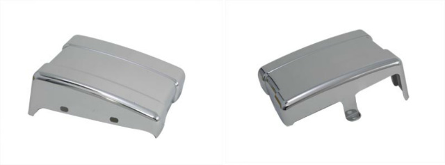 Vtwin Chrome Motorcycle Battery Side Cover for 06-16 Harley Dyna FXD
