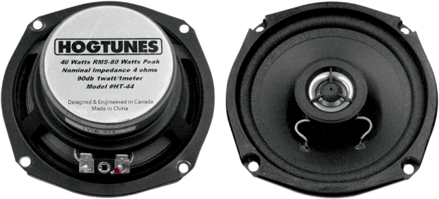 "Hogtunes 4.25"" Front Replacement Speakers 85-96 Harley Davidson Dressers FLHTC"
