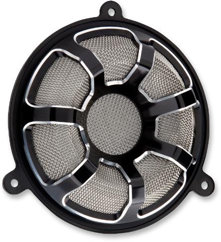 Arlen Ness Black Beveled Front Fairing Speaker Grills 14-19 Harley Touring FLHX