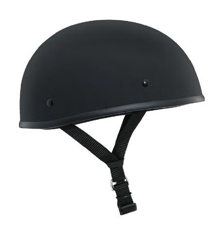Akoury Flat Black Small Boss DOT Light Weight Motorcycle Half Helmet For Harley