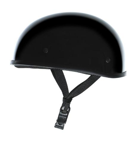 Akoury Gloss Black Light Weight Boss DOT Motorcycle Half Helmet For Harley