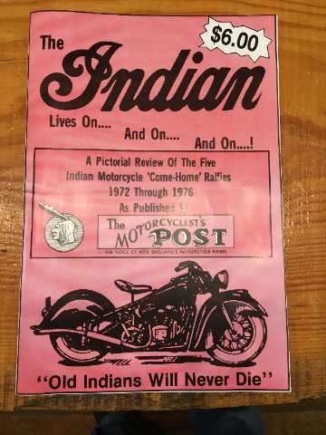 Reprint of The Motorcycle Post Indian Come Home Rallies 1972-1976 Chuck Myles