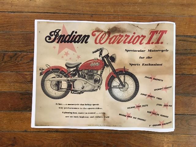 "Vintage Replica Indian Warrior T.T Cardstock Chuck Myles 24"" x 18"" Poster"