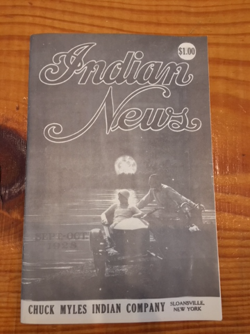 Chuck Myles Genuine Vintage Indian News Motorcycle Magazine Chief Scout 1928