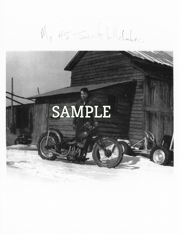 Chuck Myles Early Photo Picture Indian Motorcycle 45 Scout Hill climber