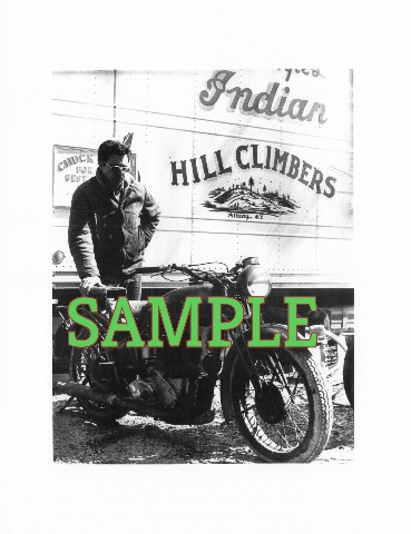 Chuck Myles Early Photo Picture Indian Motorcycle Hill climbers Albany NY