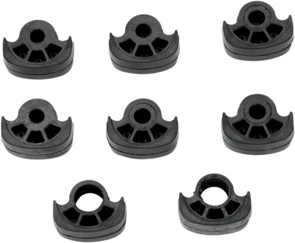 Kuryakyn 8009 Black Rubber ISO Small 8 Pack Front Footpeg Pads Harley Davidson