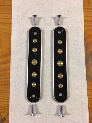 JT's Cycles Black Spotlight Eliminator Plates Once Fired Bullets 94-13 Harley