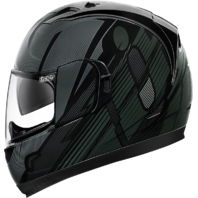 Icon Black Unisex Alliance GT Primary Motorcycle Helmet Internal Drop Shield