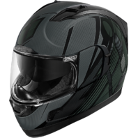 Icon Black Alliance GT Primary Motorcycle Helmet Internal Drop Shield CLOSEOUT