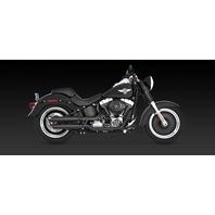 "Vance & Hines Twin Slash 3"" Slip on black mufflers Harley 07-17 Softail FLSTF"