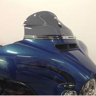 """Klock Werks Flare 6.5"""" Tint Windshield for 14-20 Harley Touring FLHT FLHX FLHTKL"""