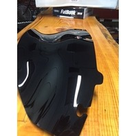 "Klock Werks Flare 6.5"" Black Windshield for 14-19 Harley Touring FLHX Dresser"