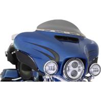 """Klock Werks Flare Dark Smoke 5"""" Windshield for 14-19 Harley Touring FLHX FLHTKL"""