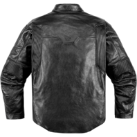 Mens Icon 1000 Black Leather Retrograde Motorcycle Riding Jacket Harley
