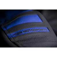 Mens Icon Blue Leather Motorhead 2 Motorcycle Racing Riding Jacket Harley
