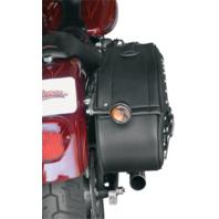 Saddlemen Black Leather Quick Release Saddlebags 86-13 Harley Softail FXS FLST