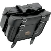 All American Rider Black Box Style Slant Universal Saddlebags for Harley