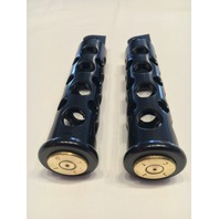 JT's Cycles Once Fired .50 cal BMG Bullets Black Footpegs for Harley FXD Sportster