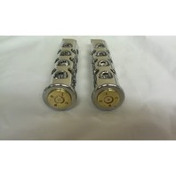 JT's Cycles .50 Caliber BMG Bullets In Chrome Footpegs Harley Sportster FXD XL