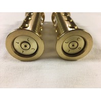 JT's Cycles Genuine .50 caliber BMG bullets in Brass footpegs Harley Davidson