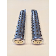 JT's Cycles Genuine .50 Caliber BMG Bullets In Chrome Silencer Footpegs Harley